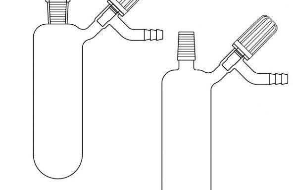 Azot (Schlenk) tüpü, Valf musluklu, Dişi  ve Erkek Şilifli