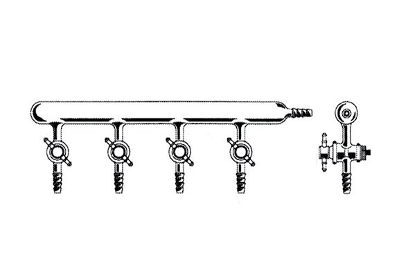 Vakum manifoldu (Inert atmosfer azot hattı), Tek hatlı